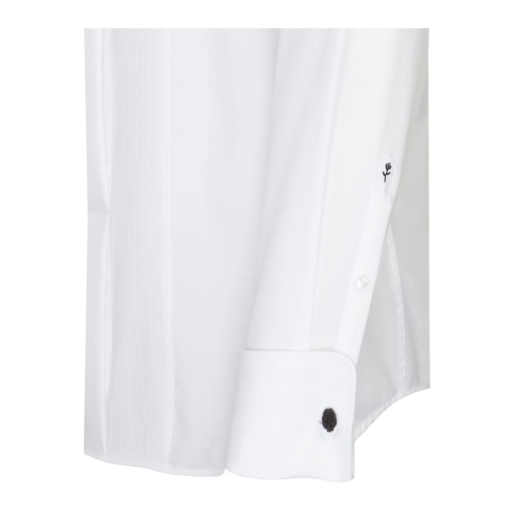 seidensticker Smokinghemd »Regular«, Regular Langarm Kläppchenkragen Uni