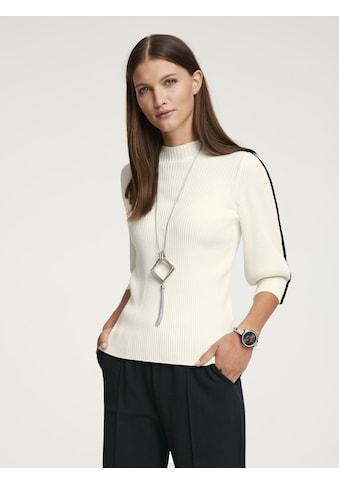 Pullover mit Kontrast - Streifen kaufen