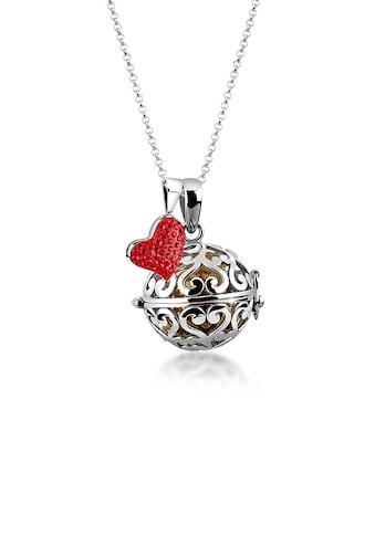 Nenalina Kette mit Anhänger »Engelsflüsterer Klangkugel Herz Liebe 925 Silber« kaufen