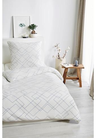 Primera Bettwäsche »Bio Crepe Mosaik«, mit feinem Linienmuster kaufen
