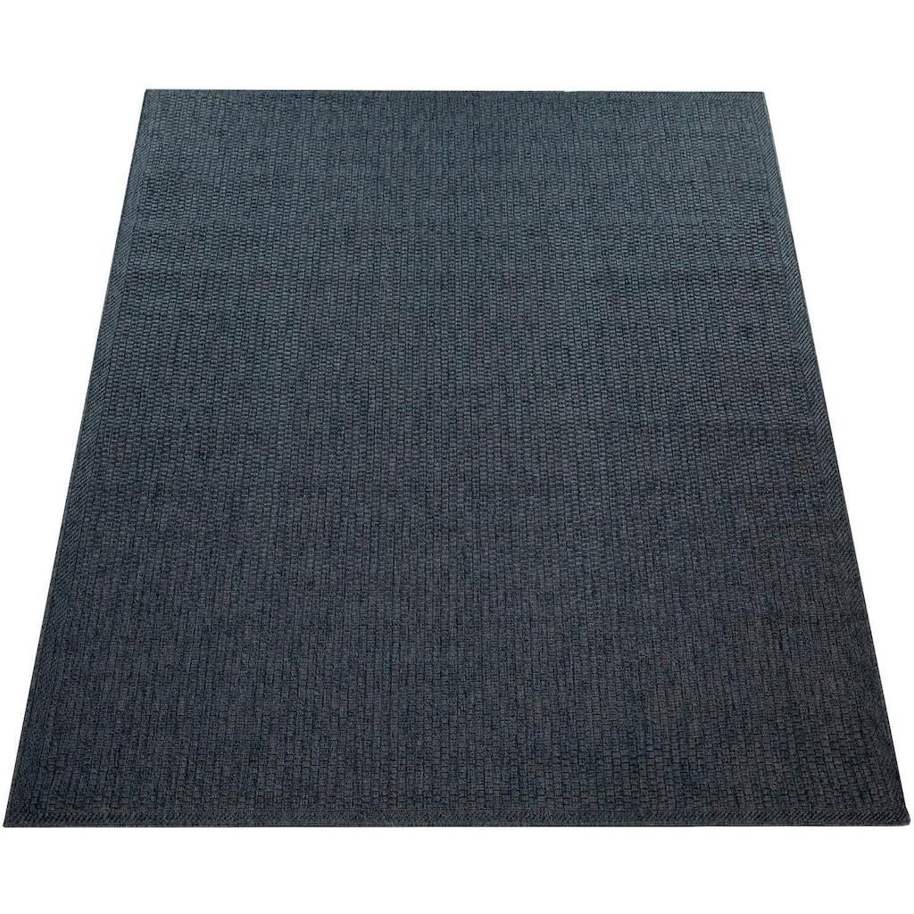 Paco Home Teppich »Timber 125«, rechteckig, 7 mm Höhe, In- und Outdoor geeignet, Wohnzimmer, Kundenliebling mit 4,5 Sterne-Bewertung!