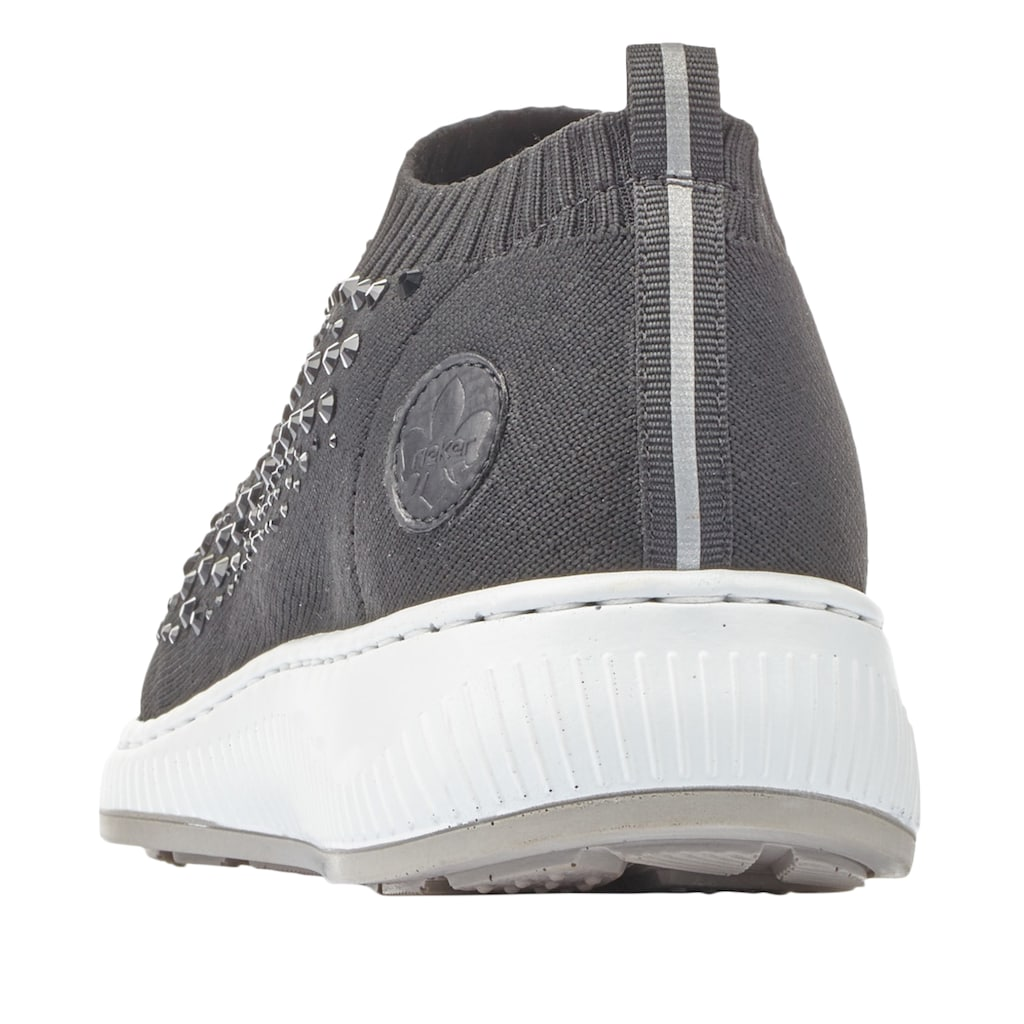 Rieker Slip-On Sneaker, mit Strass-Stein-Verzierung