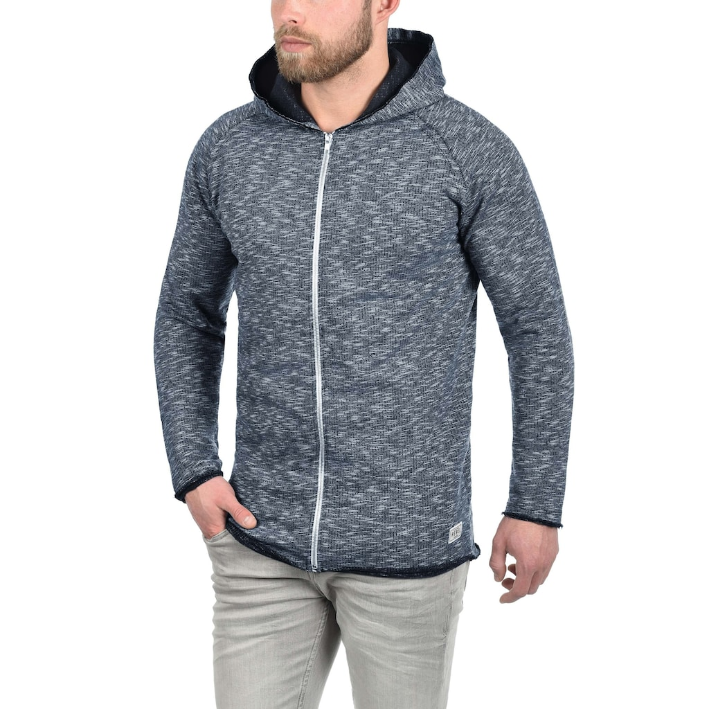 REDEFINED REBEL Kapuzensweatjacke »Malik«, Sweatshirtjacke mit offenen Saumabschlüssen