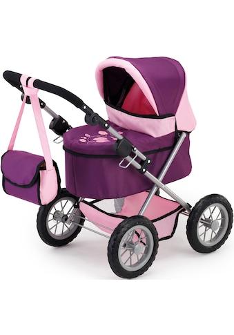 Bayer Puppenwagen »Trendy, lila/pflaume«, mit Wickeltasche kaufen