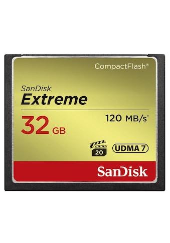 Sandisk CF Extreme 32GB, 120MB/s Lesen, 85MB/s Schreiben kaufen