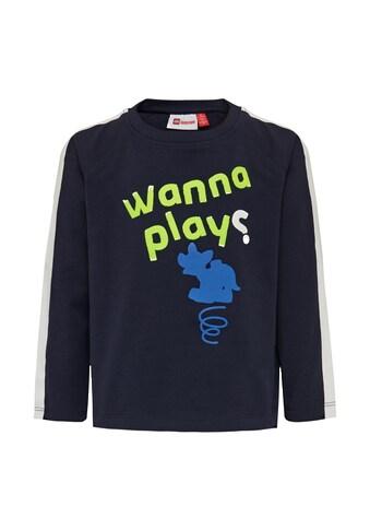 """LEGO® Wear Langarmshirt »LWTOMMAS 104«, """"hat einen Druck mit LEGO Hund """"wanna play?"""""""" kaufen"""