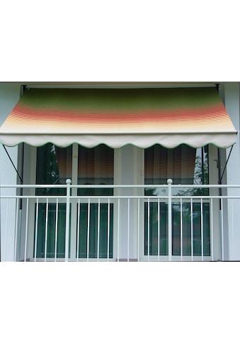 ANGERER FREIZEITMÖBEL Klemmmarkise grün/rot/gelb, Ausfall: 150 cm, versch. Breiten kaufen