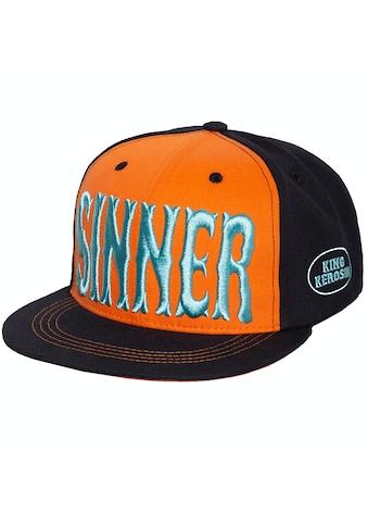 KingKerosin Flat Cap »Sinner 3D«, mit cooler 3D-Stickerei und Print kaufen