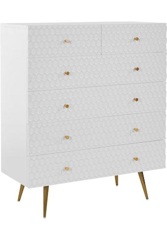 Guido Maria Kretschmer Home&Living Kommode »Easily«, Modernes Design, 6 Schubladen kaufen
