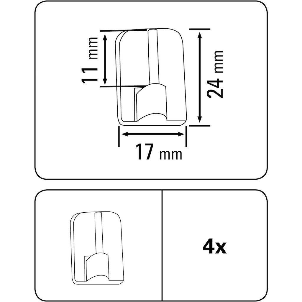 GARDINIA Klebehaken, verstellbar, Serie Vitragestange flachoval 11 mm