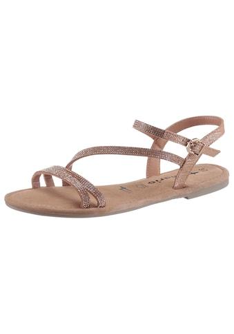 Tamaris Sandale, mit Glitzer-Riemchen kaufen