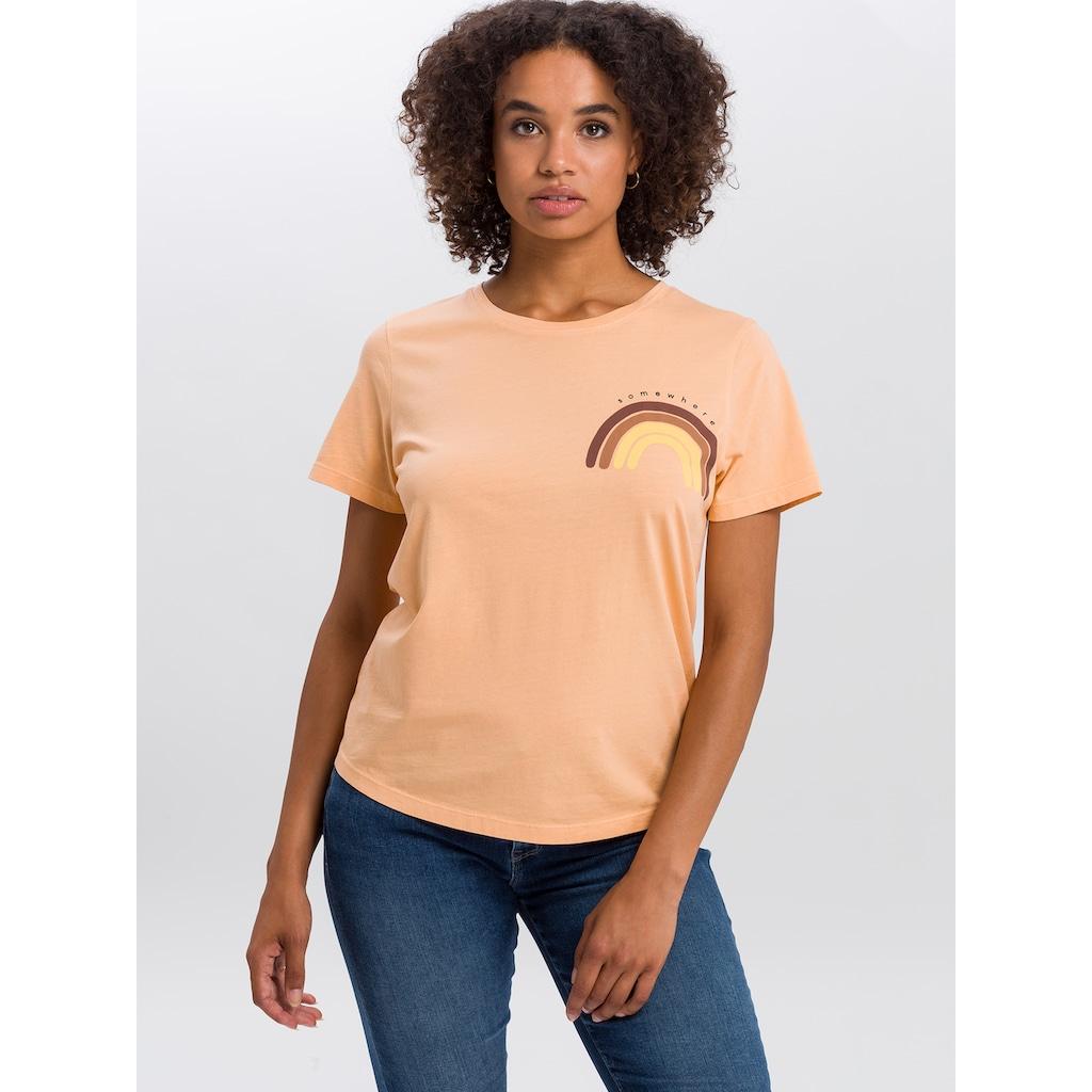 Cross Jeans® T-Shirt »55716«, Regenbogen Detail