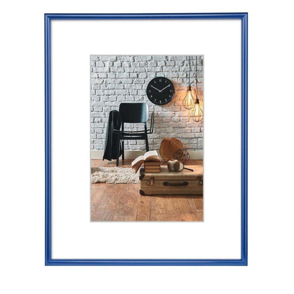 Hama Bilderrahmen »DIN A4«, Sevilla, Blau, Polystyrol, 21 x 29,7 cm