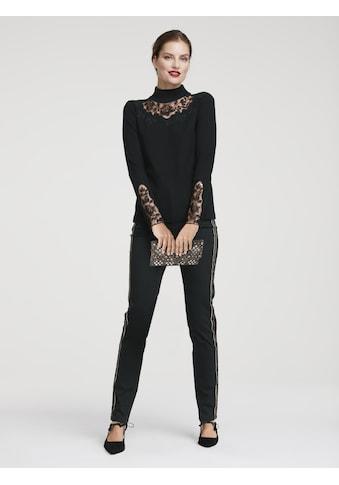 Pullover mit modischem Kragen kaufen