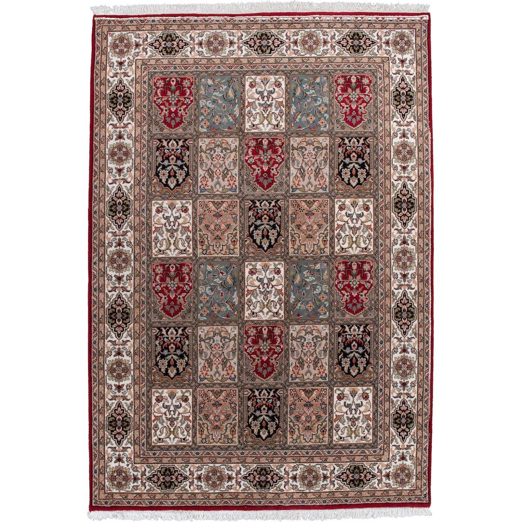THEKO Orientteppich »Benares Bachtiari«, rechteckig, 12 mm Höhe, reine Wolle, handgeknüpft, mit Fransen, Wohnzimmer