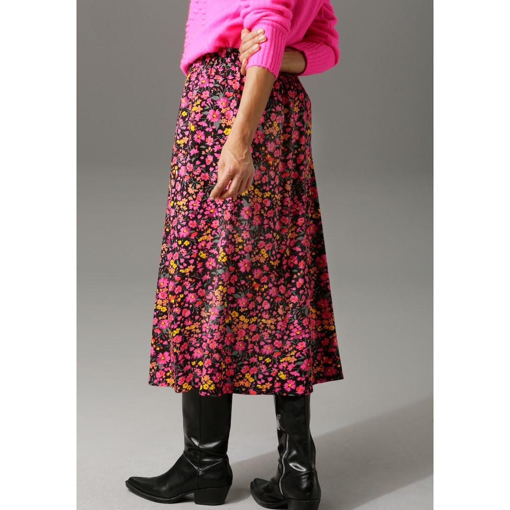 Aniston CASUAL Maxirock, in verschiedenen Blumendrucken