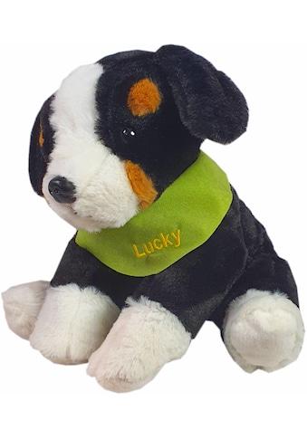 Heunec® Kuscheltier »Berner Sennenhund, 38 cm«, mit grünem Halstuch und individueller... kaufen