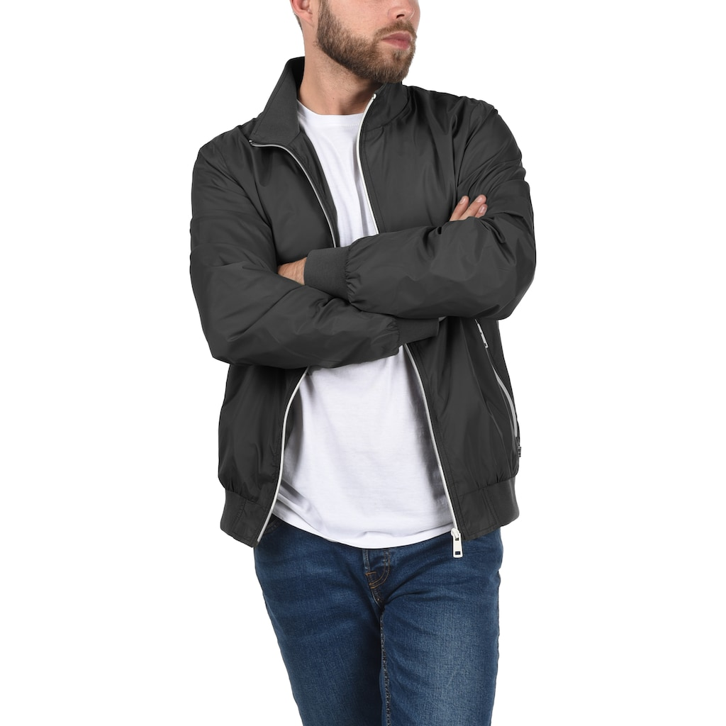 Blend Bomberjacke »Brad«, Übergangsjacke mit kontrastfarbenen Reißverschlüssen