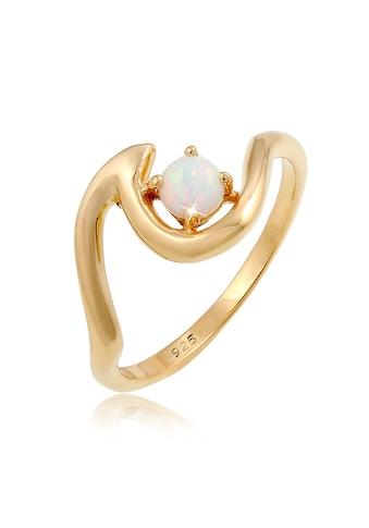 Elli Fingerring »Welle Wave Maritim Synthetischer Opal 925 Silber« kaufen