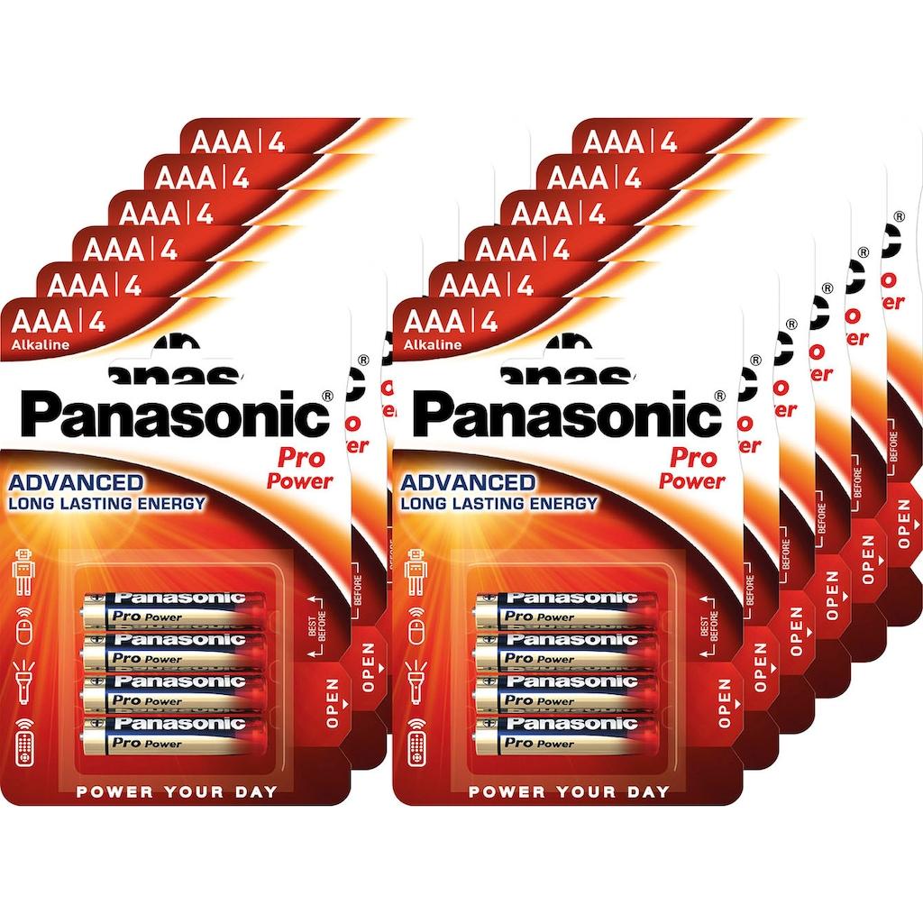 Panasonic Batterie »Batterie Alkaline, Micro, AAA, LR03, 1.5V, Pro Power, Retail Blister (48-Pack)«