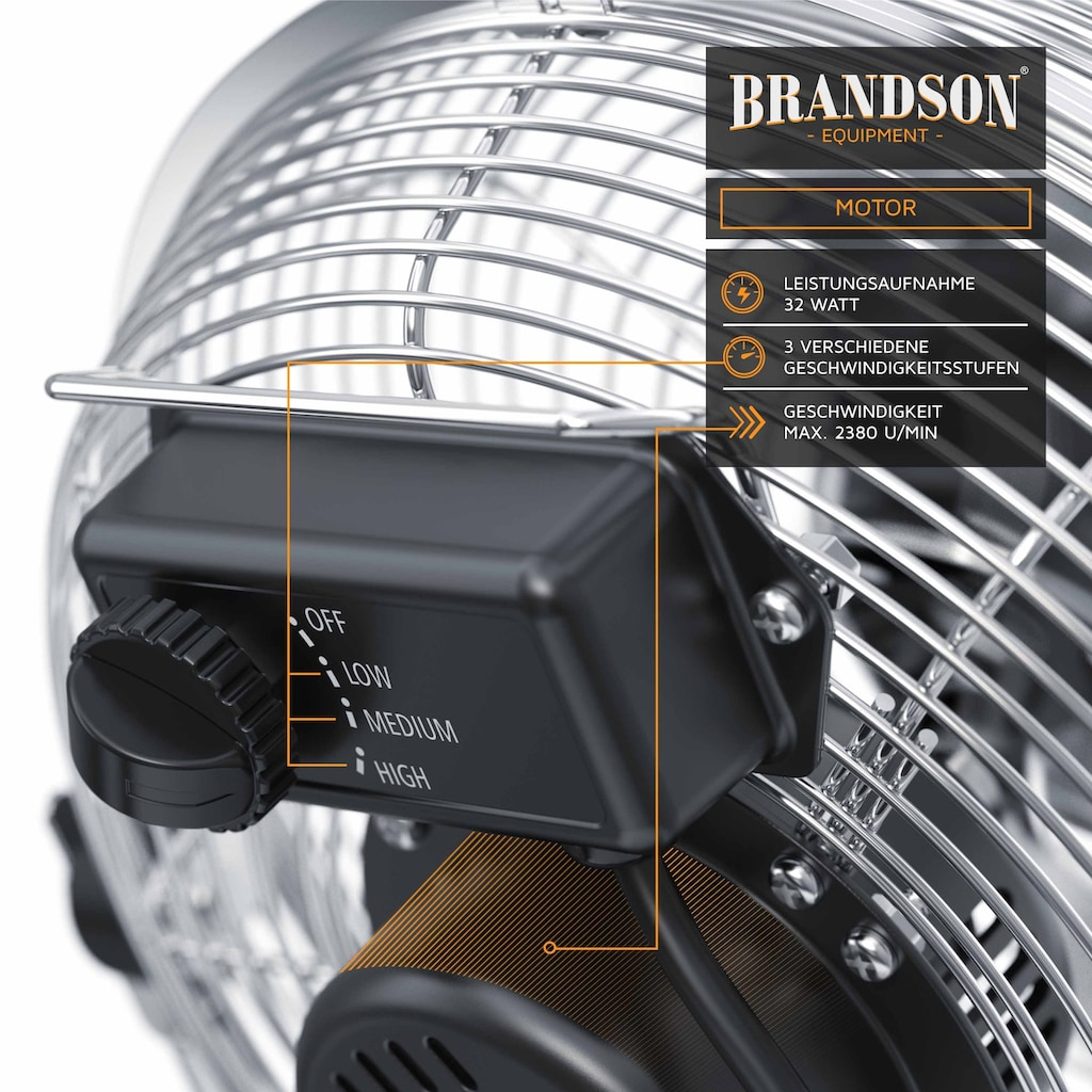 Brandson Metall Windmaschine im Chrom Design