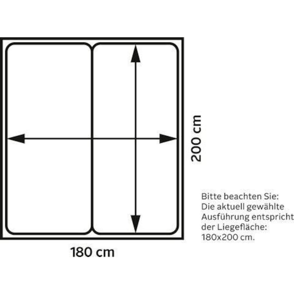 INOSIGN Boxspringbett »Zahara«, inkl. Topper, besonderes Highlight: aufgenähten Jeanstaschen - Optik