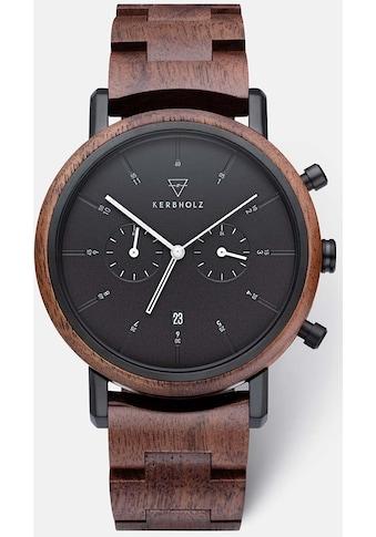 KERBHOLZ Chronograph »Johann Walnut Black« kaufen