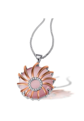goldmaid Collier, 925/- Sterlingsilber 1 Glasstein rosa kaufen