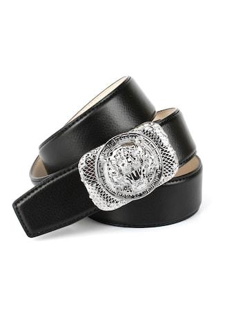 """Anthoni Crown Ledergürtel, mit silberfarbener Schließe """"Tiger"""" kaufen"""