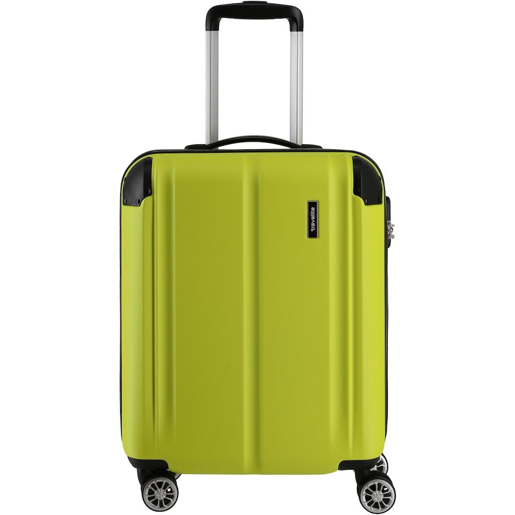 travelite Hartschalen-Trolley »City, 55 cm, limone«, 4 Rollen