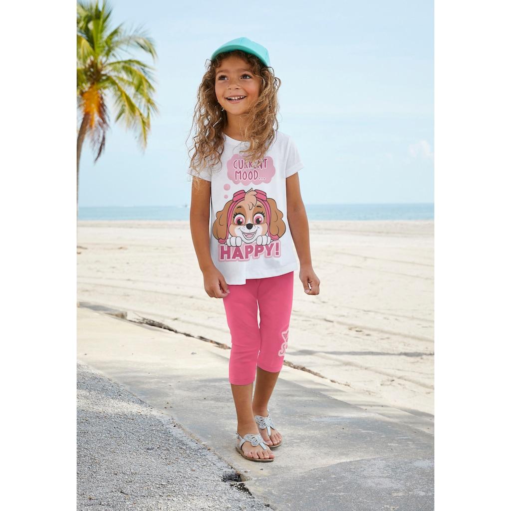 PAW PATROL Shirt & Leggings, mit Glitzerdruck