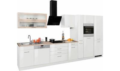 HELD MÖBEL Küchenzeile »Utah«, mit E - Geräten und großer Kühl -  Gefrierkombination, Breite 390 cm kaufen