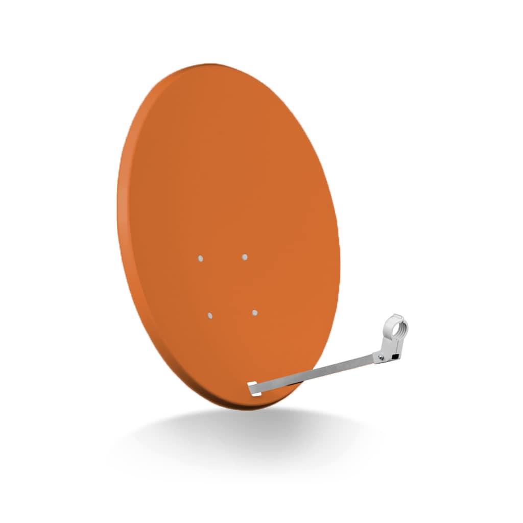 Opticum Red Sat-Spiegel »X80 Stahl anthrazit und Single LNB Sat Anlage«