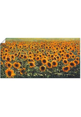 Artland Wandbild »Sonnenblumenfeld«, Blumenwiese, (1 St.), in vielen Größen &... kaufen
