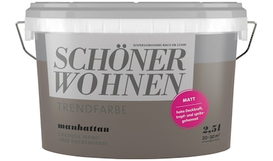 SCHÖNER WOHNEN-Kollektion Wand- und Deckenfarbe »Trendfarbe Manhattan, matt«, 2,5 l kaufen
