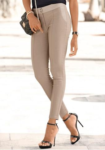 LASCANA Stretch-Hose, mit Einsätzen aus Lederimitat kaufen
