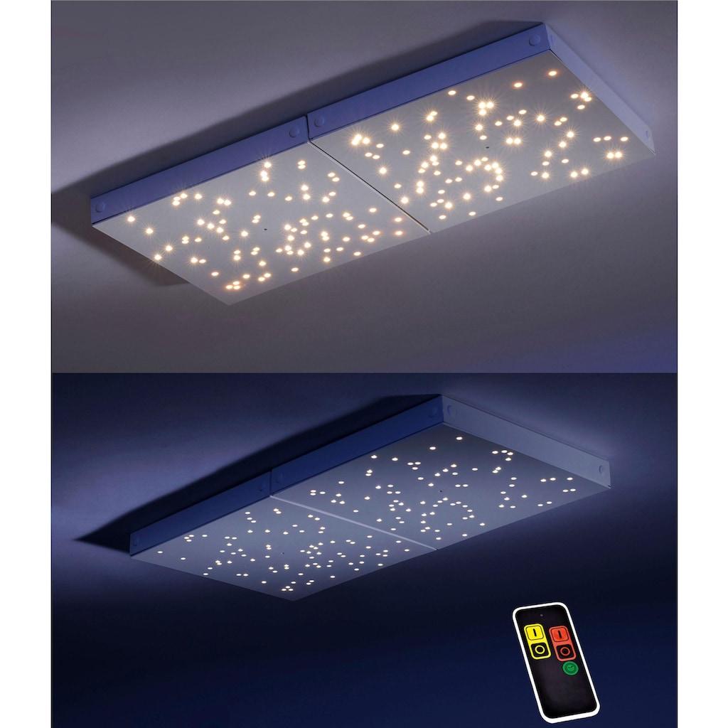 Paul Neuhaus Deckenleuchte »UNIVERSE«, Neutralweiß-Warmweiß-Tageslichtweiß-Warmweiß, MASTER-PANEL mit Funkfernbedienung, inklusive Serienschalter, inklusive LED Leuchtmitteln