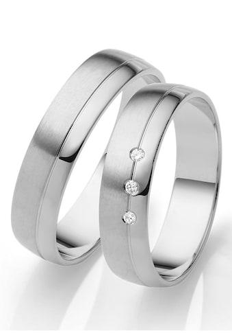 Firetti Trauring mit Gravur »glanz, seidenmatt, Diamantschnitt, 5,0 mm breit«, Made in... kaufen