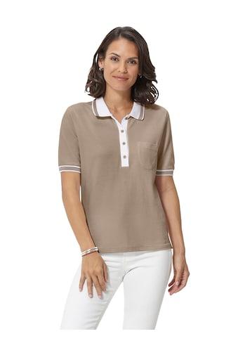 Casual Looks Poloshirt in sommerleichter Pikee - Qualität kaufen