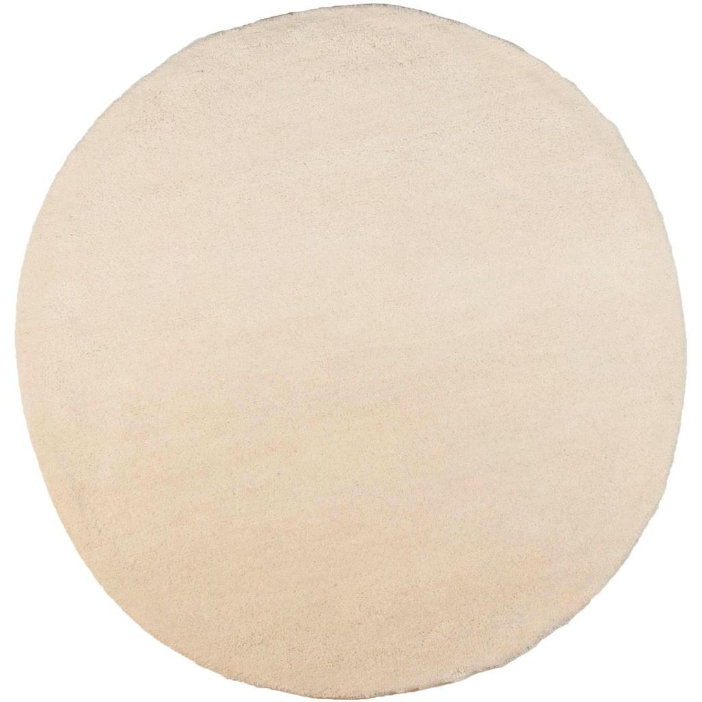 THEKO Wollteppich »Taza Royal«, rund, 24 mm Höhe, echter Berberteppich, reine Schurwolle, handgeknüpft, Wohnzimmer