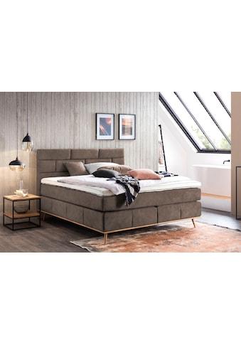Places of Style Boxspringbett »Padise«, mit Massivholzrahmen kaufen