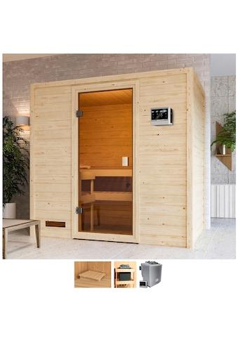 Karibu Sauna »Sunie«, 4,5-kW-Bio-Ofen mit ext. Steuerung kaufen