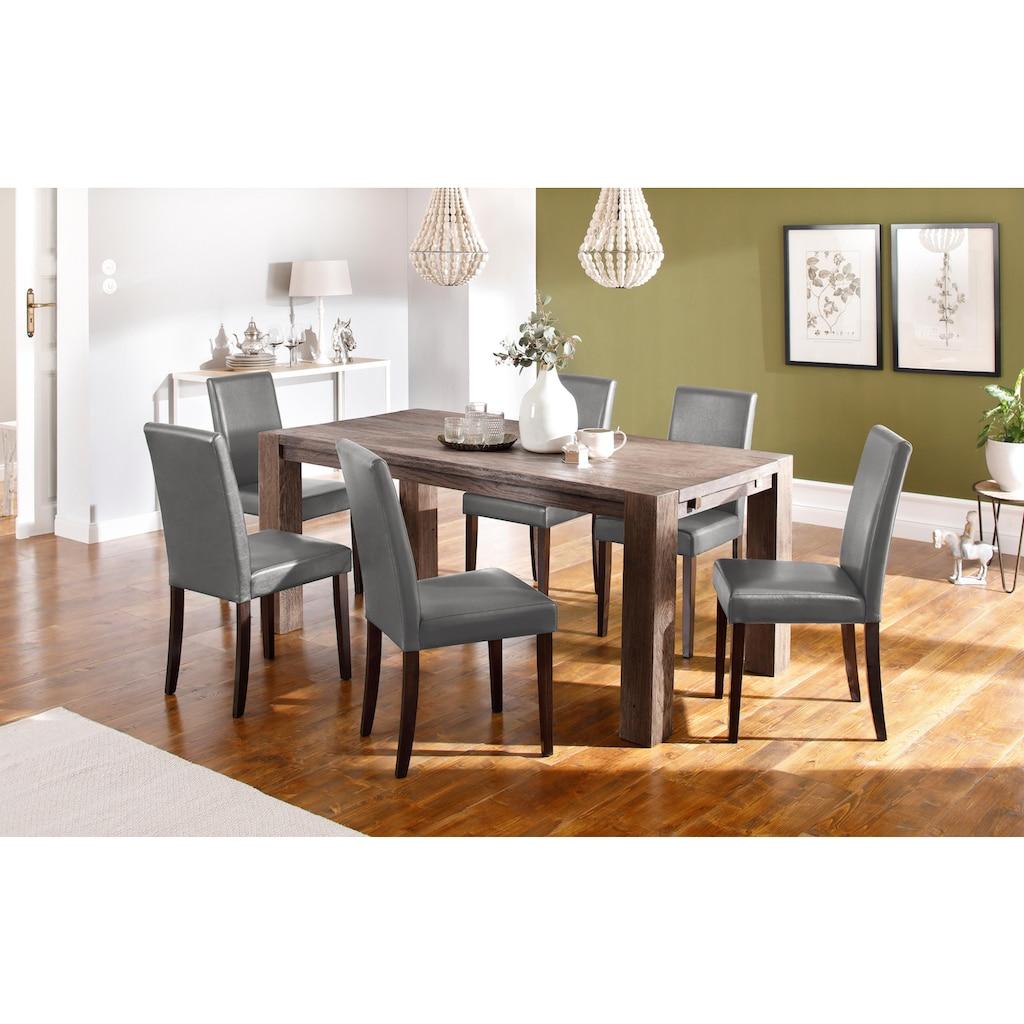 Home affaire Essgruppe »Silje«, (Set, 7 tlg.), bestehend aus 6 Lucca Stühlen und dem Maggie Esstisch
