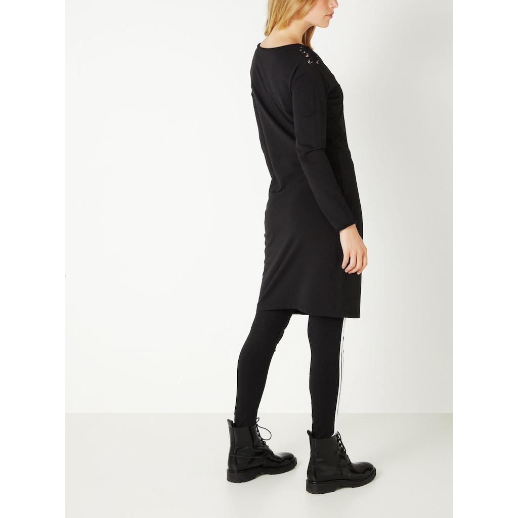 Sandwich Sweaterkleid mit Schnürung an den Schultern
