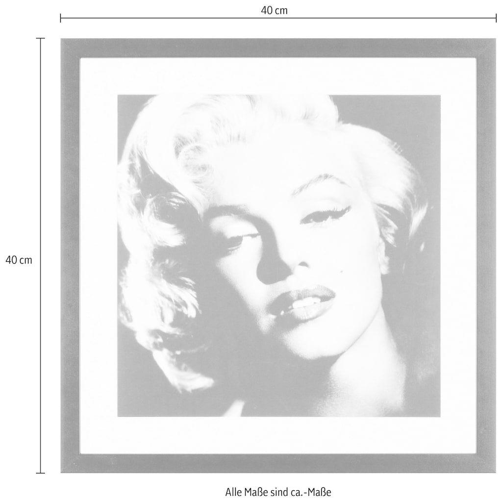 G&C Bild »Celebrities: Marilyn Monroe«, 40/40 cm, gerahmt
