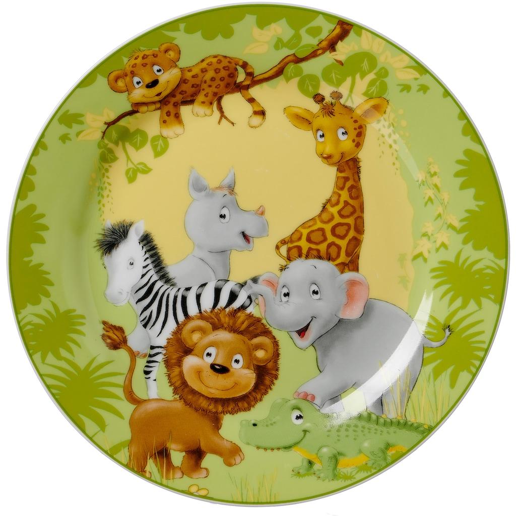 Ritzenhoff & Breker Kindergeschirr-Set »Dschungeltiere«, (Set, 3 tlg.)