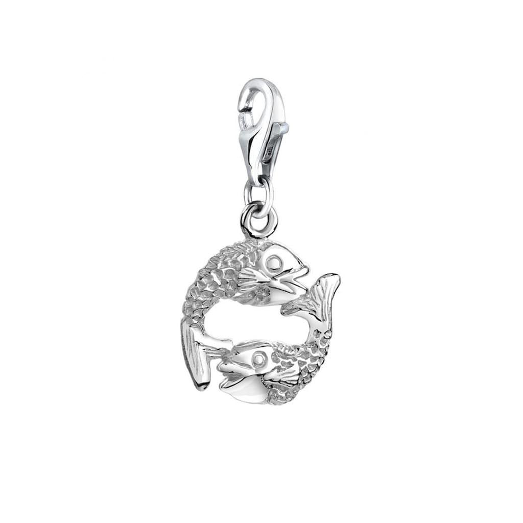 Nenalina Charm-Einhänger »Fische Anhänger Meer Sternzeichen 925 Silber«