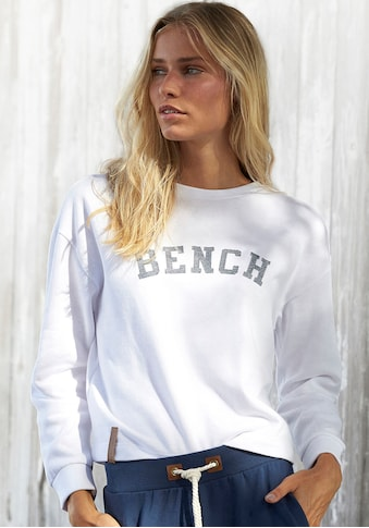 Bench. Sweatshirt, in Cropped-Form mit Logostickerei kaufen