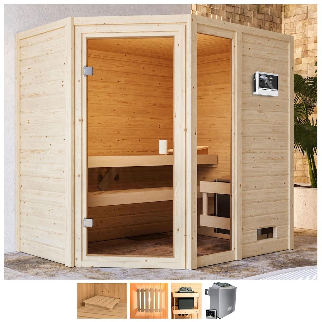Karibu Sauna »Josie«, 9-kW-Ofen mit ext. Steuerung