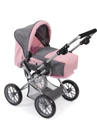 CHIC2000 Kombi-Puppenwagen »Leni, grau-rosa«, mit herausnehmbarer Tragetrasche kaufen